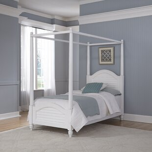 Shopping for Harrison Twin Canopy Bed by Beachcrest Home Reviews (2019) & Buyer's Guide