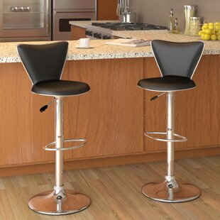 Honea Adjustable Height Swivel Bar Stool (Set of 2) Brayden Studio