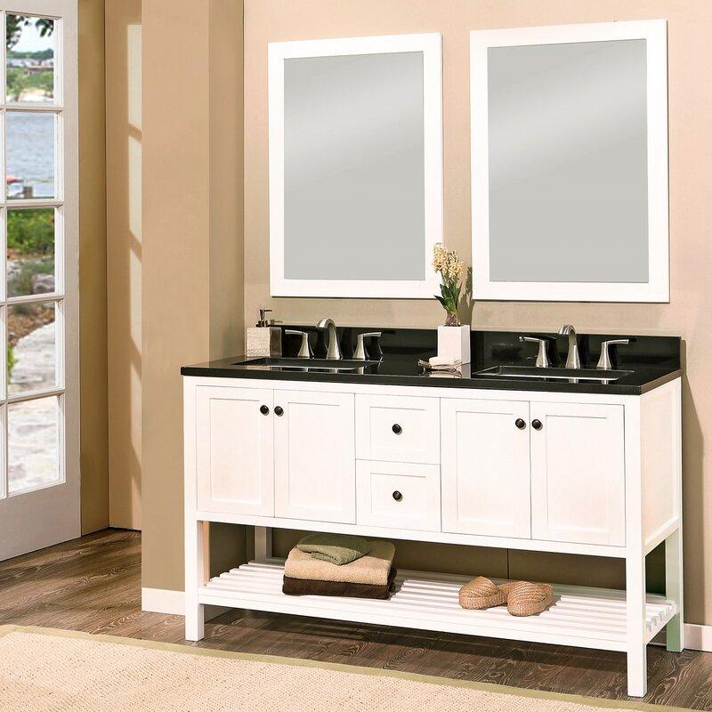 NGY Stone Cabinet Hampton Bay Double Bathroom Vanity With - Hampton bay bathroom cabinets