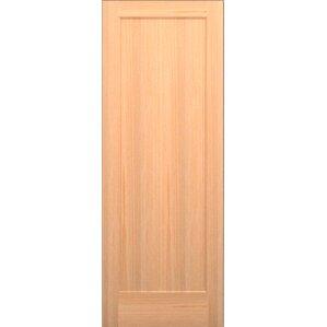 Wood 1 Panel Slab Interior Door