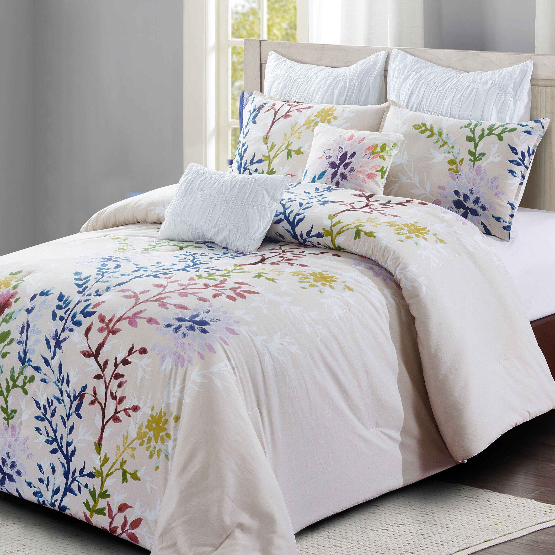 Nature Floral White Comforters Sets You Ll Love In 2021 Wayfair