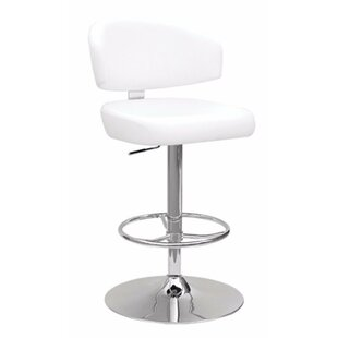 Goodhue Adjustable Height Swivel Bar Stool by Orren Ellis