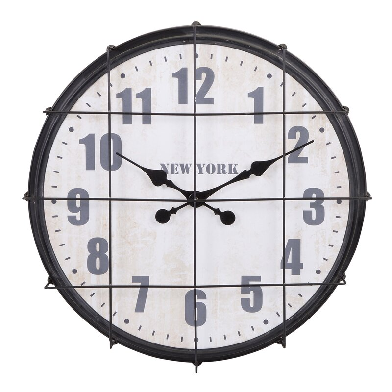 "22"" New York Cage Clock"