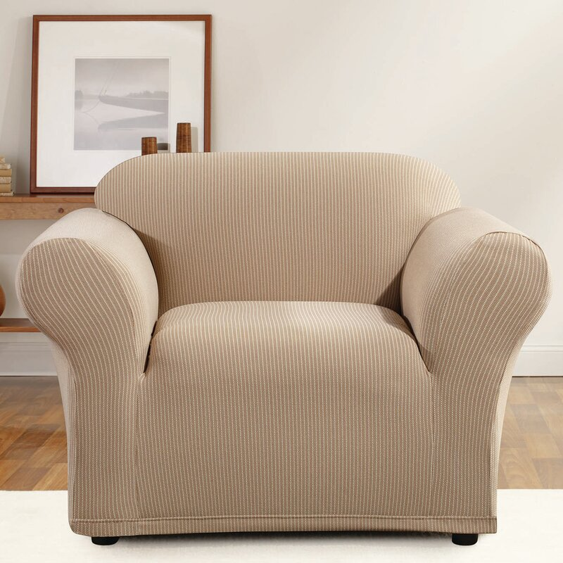 Wing Chair Slipcover With Box Cushion box cushion wing chair cover