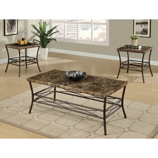 A&J Homes Studio Medford 3 Piece Coffee Table Set