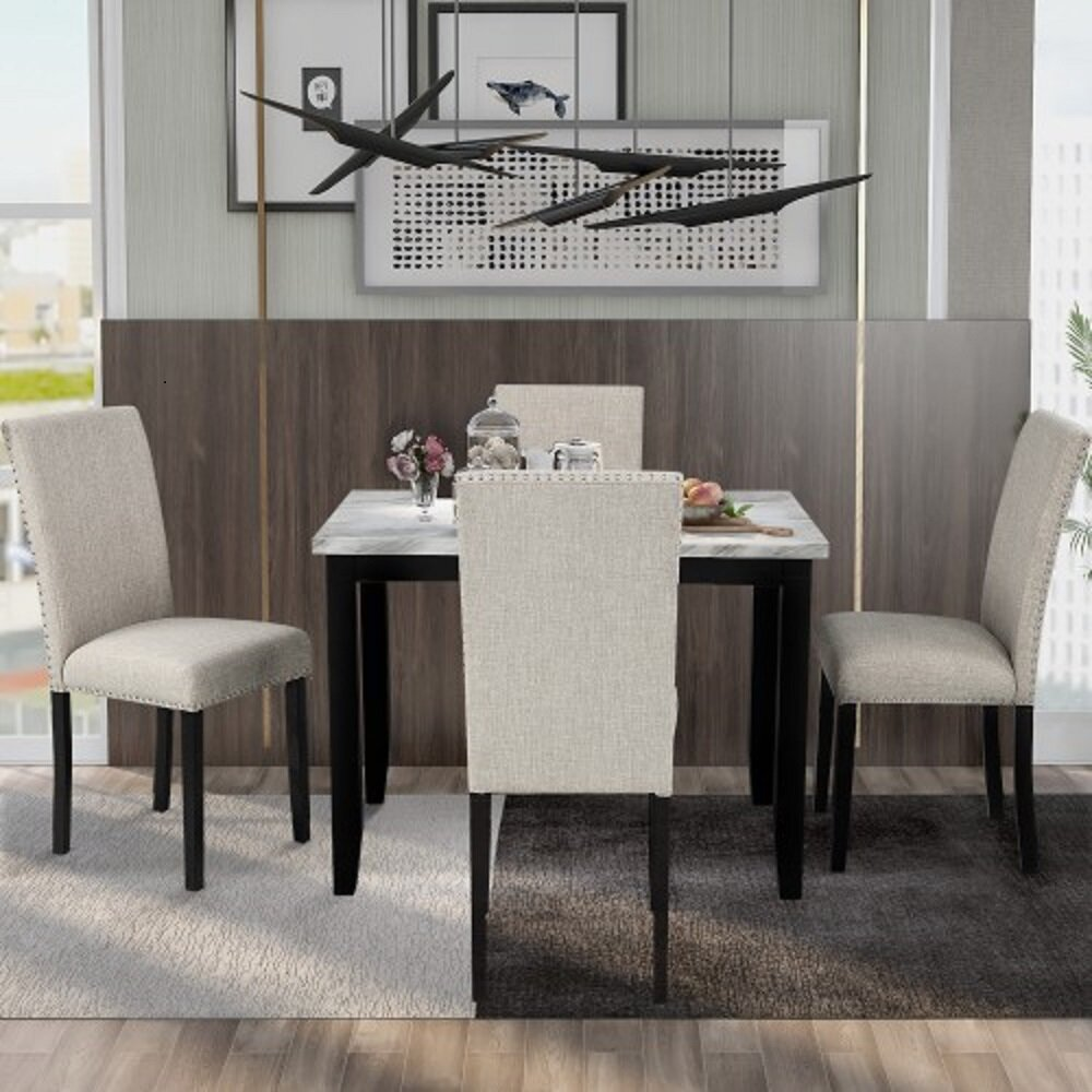 Red Barrel Studio Ammundsen 5 Piece Dining Set Wayfair