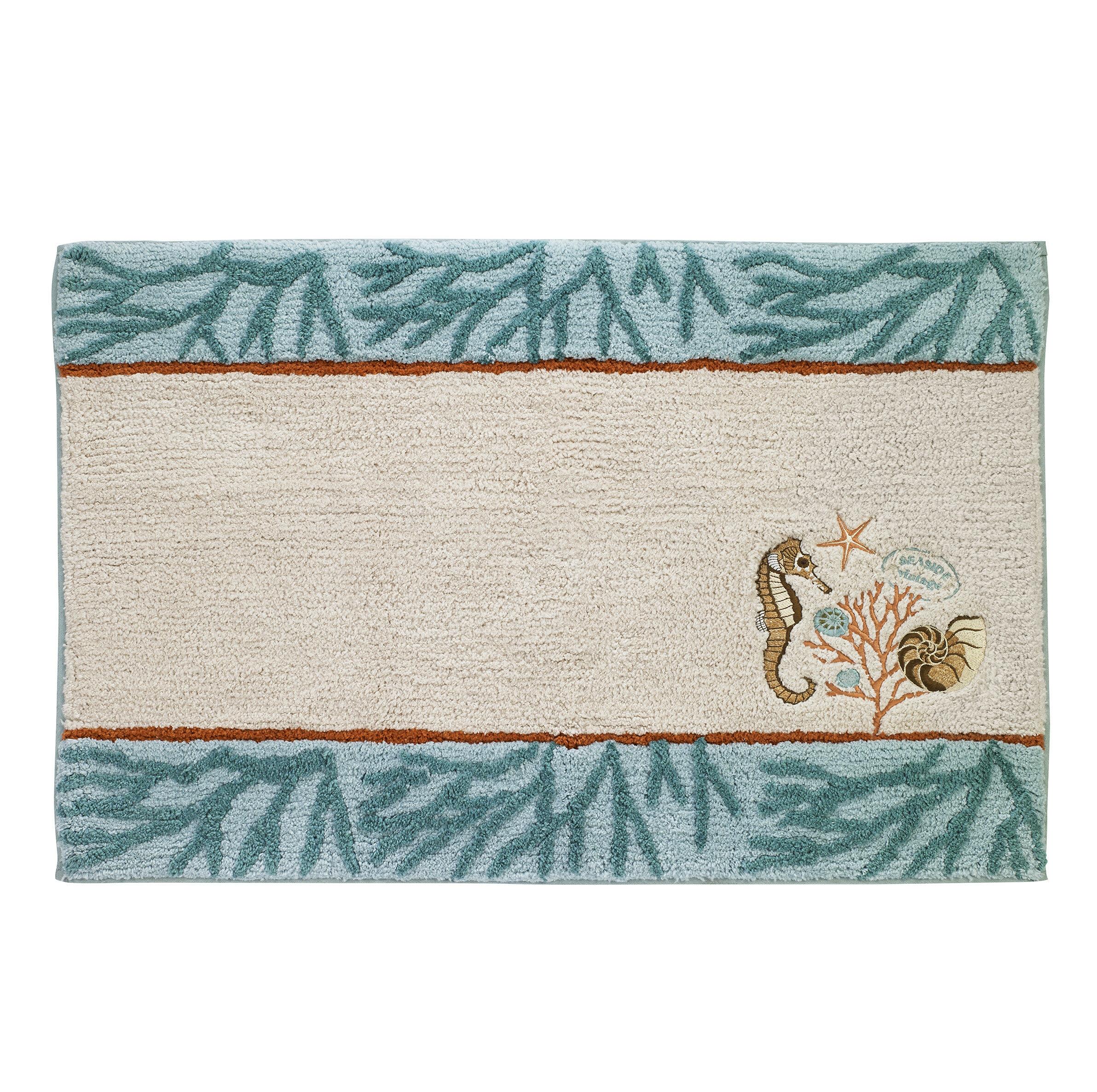 Picture of: Highland Dunes Castiglione Vintage 100 Cotton Non Slip Animal Print Bath Rug Reviews