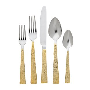 Slate 20 Piece 18/10 Stainless Steel Flatware Set, Service for 4