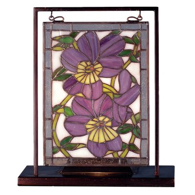 "Image result for Pansies | Stained Glass Panel | 9.5"" X 10.5"""