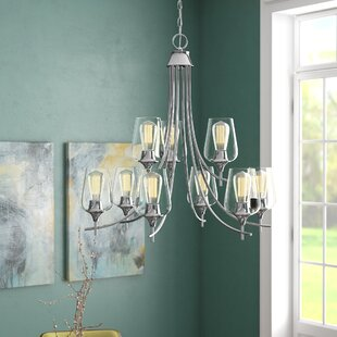 Hickerson 9-Light Shaded Chandelier