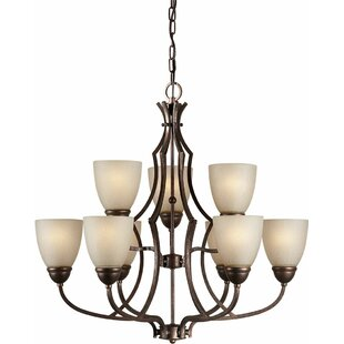 Vickrey 9-Light Shaded Chandelier by Winston Porter