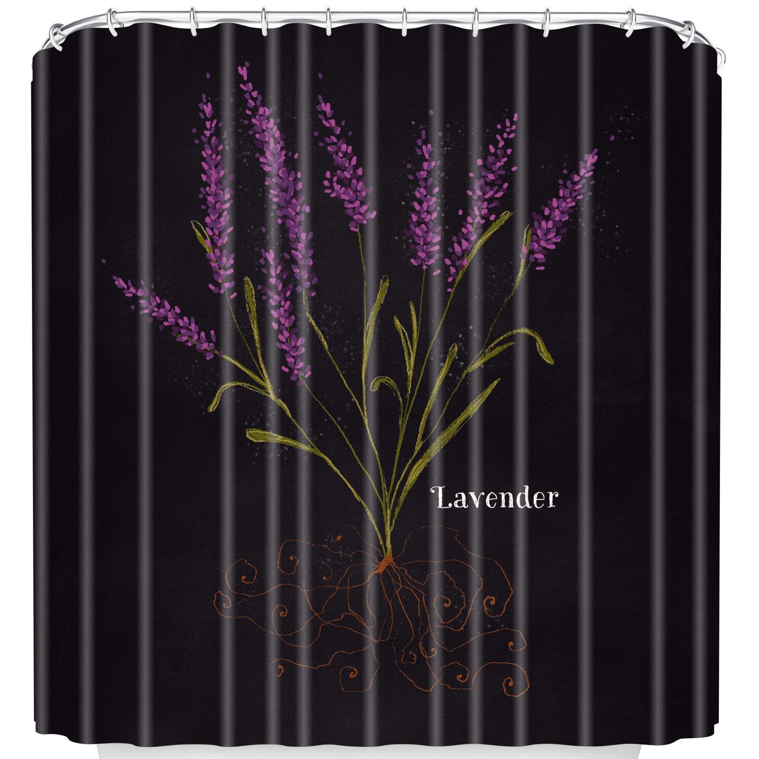 East Urban Home Lavender Shower Curtain | Wayfair