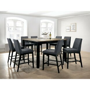 Reiff Contemporary Style Counter Height Wire 9 Piece Pub Table Set Ebern Designs