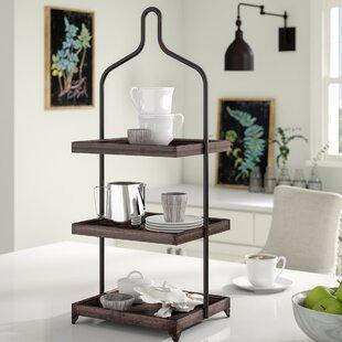 Gracie Oaks Surikova Metal 3 Tiered Standard Shelf