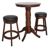 Oxford 3 Piece Hardwood Pub Table Set by Hathaway Games