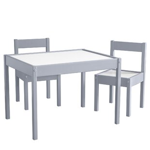 Ramona 3 Piece Rectangular Writing Table and Chair Set