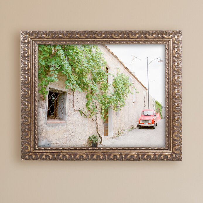 Trademark Art Red Car By Ariane Moshayedi Framed Photographic Print Wayfair