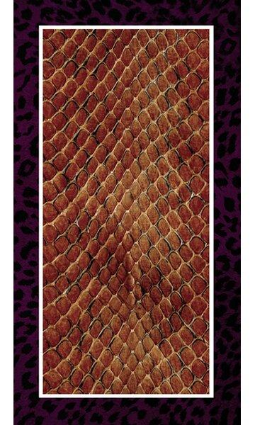 World Menagerie Maravilla Leopard Snake Rectangle Plastic Vinyl Non Slip Animal Print Shower Mat Wayfair
