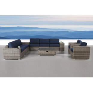 Quincy 12 Piece Rattan Sunbrella Conversation Set with Cushions by Brayden Studio