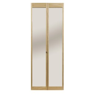 Merveilleux Solid Wood Mirrored Bi Fold Doors