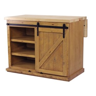 Uli Kitchen Island with Butcher Block Top