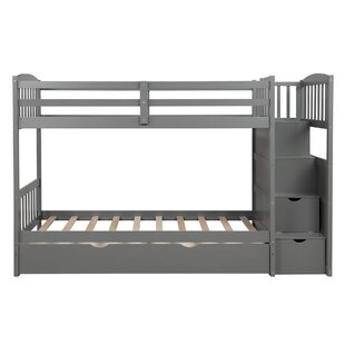 Adline Twin over Twin Bunk Bed with 5 Drawers