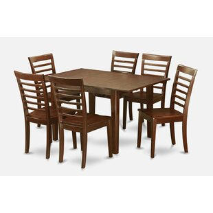 Lorelai 7 Piece Solid Wood Dining Set Alcott Hill