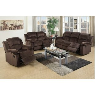 Linda Reclining 3 Piece Living Room Set