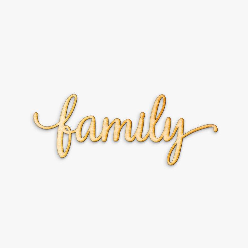 Zipcode Design Rustic Family Wood Wall Décor & Reviews | Wayfair