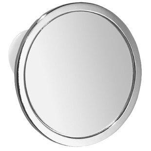 InterDesign Suction Shower Bathroom/Vanity Mirror