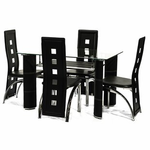 Bracondale 5 Piece Dining Set Orren Ellis