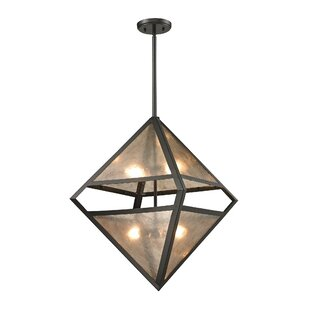 Butcher 4-Light Geometric Chandelier by Millwood Pines