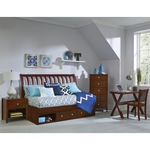 Bitting Rake Sleigh Twin Daybed with Drawers by Kitsco