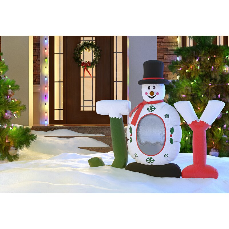 christmas inflatable joy snowman snow globe decoration - Joy Christmas Decoration