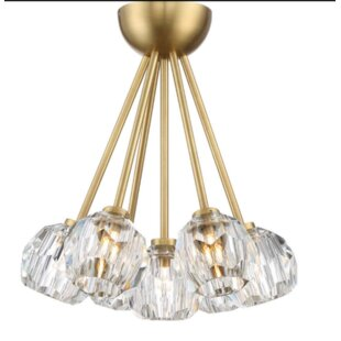 Gerdes 7-Light Semi Flush Mount by Everly Quinn