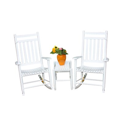 3 Piece Conversation Set Finish: White by Dixie Seating