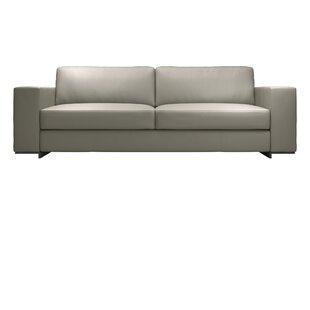 Renwick Leather Sofa By Modloft Black