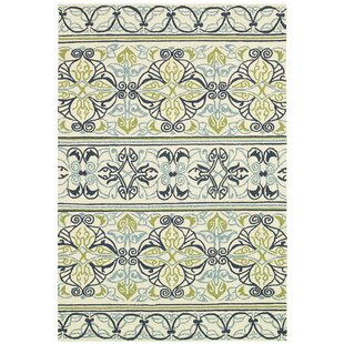 Locklin Hand-Woven Ivory Indoor/Outdoor Area Rug