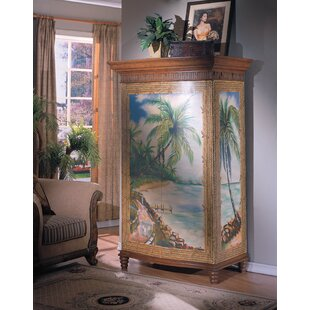 Spigner Hand-Painted TV Armoire