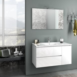 Sally 1010mm Wall Hung Single Vanity By Ebern Designs