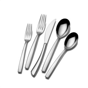 Kya 5 Piece 18/10 Stainless Steel Flatware Set, Service for 1