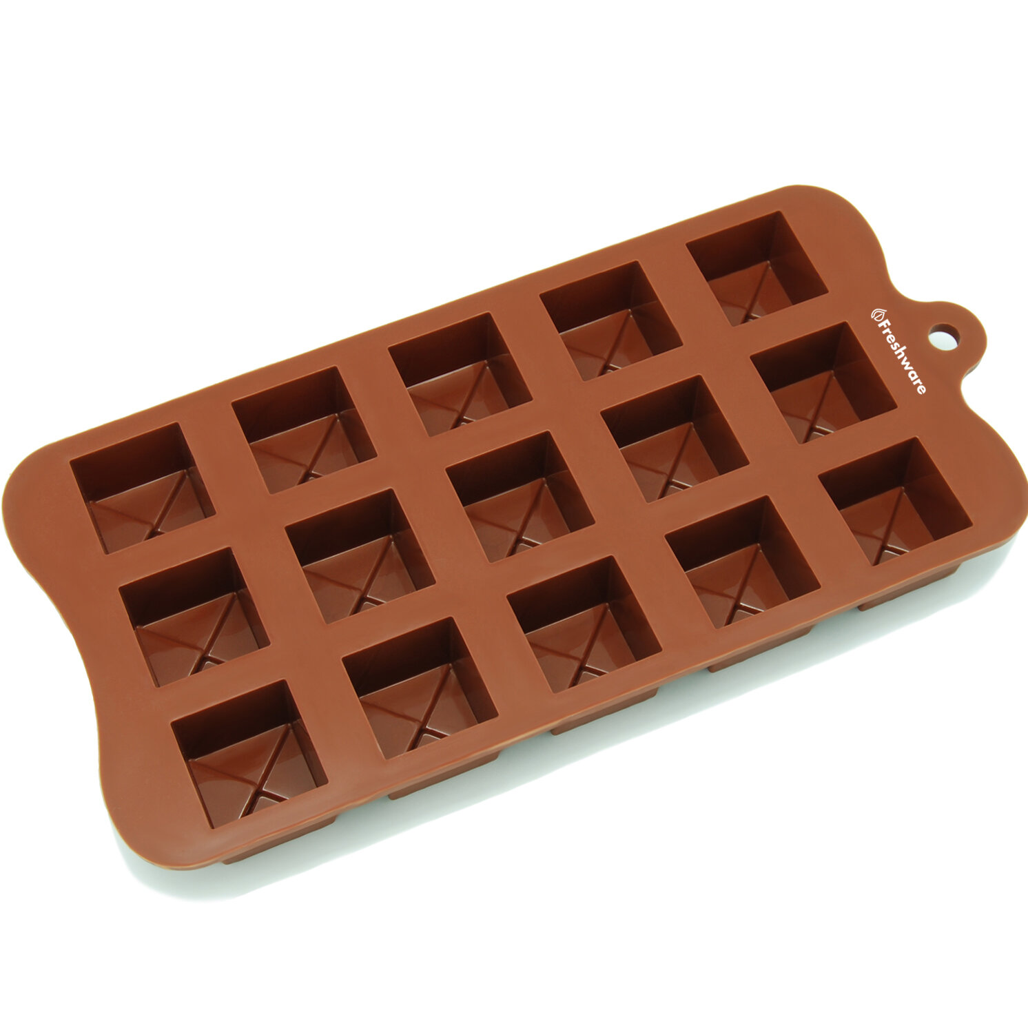 Freshware 15 Cavity Tiered Square Silicone Mold Pan Wayfair