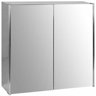 Bathroom Double 45cm X Recessed Mirror Cabinet