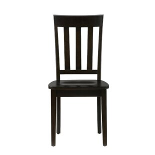 Jocelyn Vertically Slated Back Solid Wood Dining Chair (Set of 2) by Longshore Tides