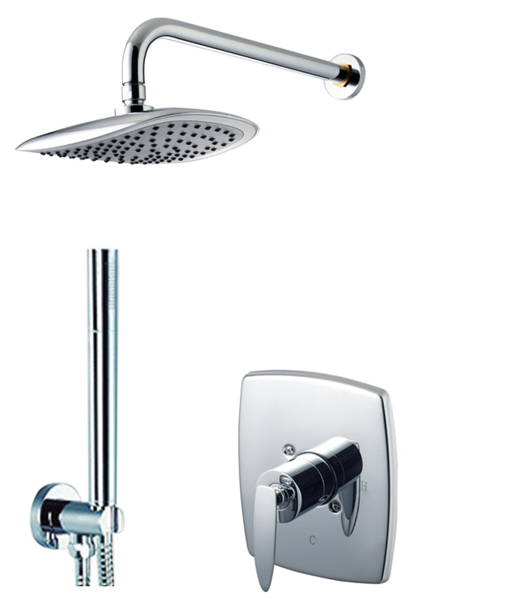 Eden Diverter Dual Function Volume Control Shower Faucet With Valve And Trim