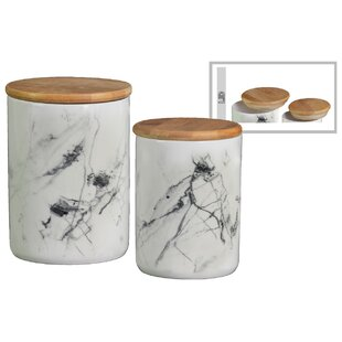 2 Piece Kitchen Canister Set