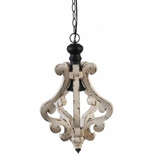 Wood pendant lights youll love wayfair latonia wooden 1 light geometric pendant aloadofball Images