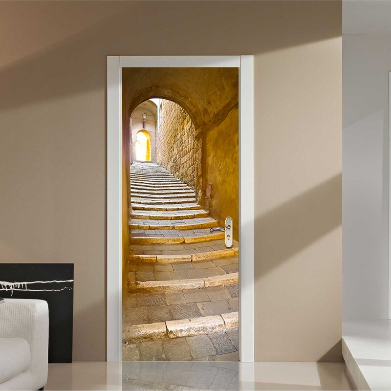 Stone Stairway Wall Decal