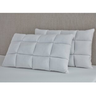 Pierce Reversible Puff Medium Memory Foam Standard Bed Pillow (Set of 2)