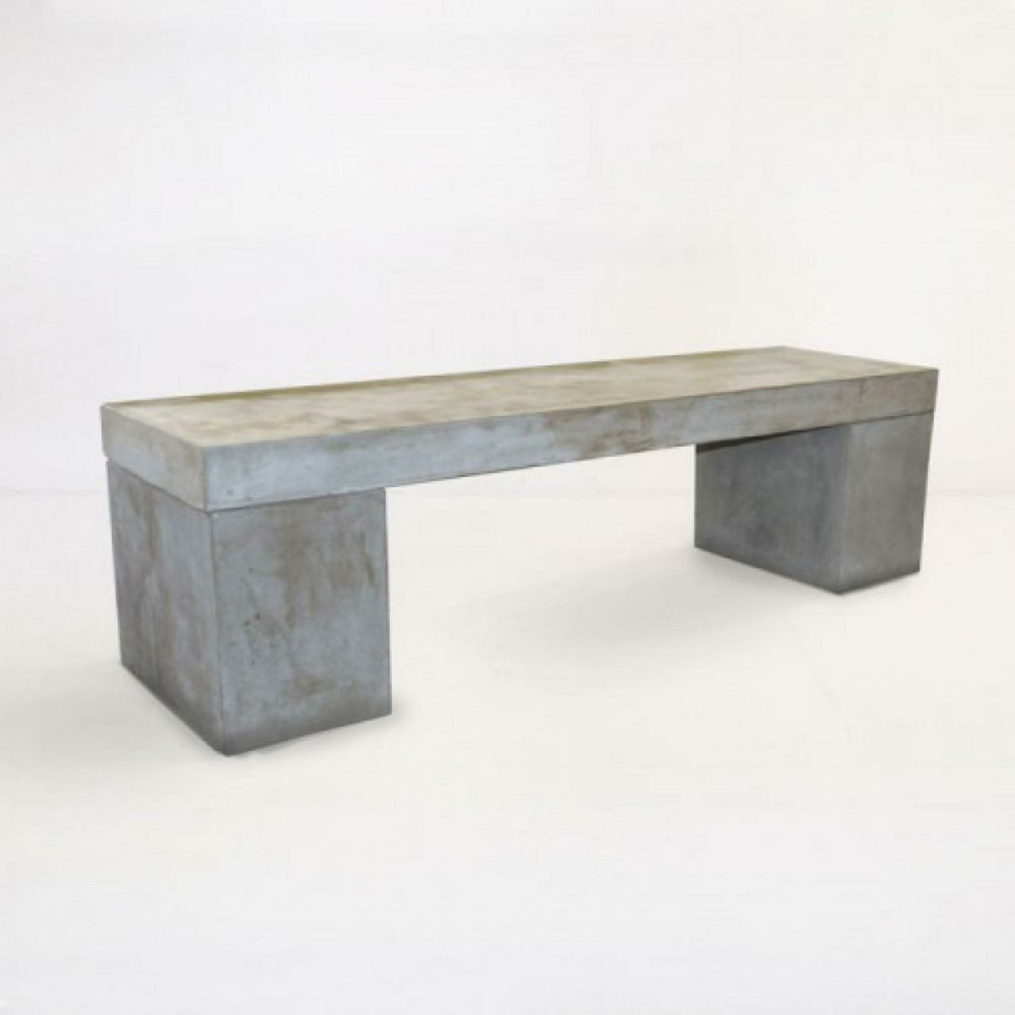 Miraculous Kasey Sturdy Leg Fiber Reinforced Concrete Garden Bench Uwap Interior Chair Design Uwaporg